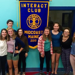 The MidCoast Interact Club at Camden Hills Regional High School has installed officers for the 2016 / 2017 school year.