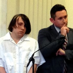 Dylan Lee Collins, left, of Biddeford stands with his attorney, William Ashe, in his initial court appearance at York County Superior Court on Nov. 7, 2014.