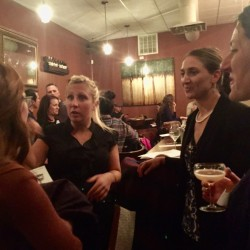 A group of women gather at Sur Lie in Portland for a networking session run by The Adulting School.