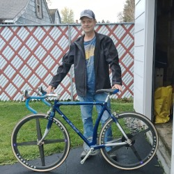 John Desjardins still has his Aegis Aero Svelt that is among the thousands he helped build at the former Aegis Bicycle factory in Van Buren.