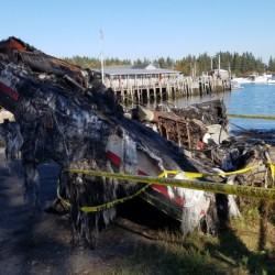 Investigators say fire that destroyed lobster boat was arson