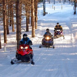 Snowmobiles Riding Trails in Northern Maine - Photo Courtesy Paul Cyr Photography