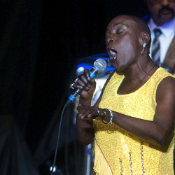 Sharon Jones & The Dap-Kings perform before Hall & Oates at the Darlings Waterfront Pavilion in Bangor on July 14, 2016.
