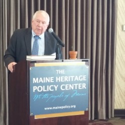 William Beardsley, deputy commissioner of the Maine Department of Education, addresses a small group about education reform during a lecture hosted by the Maine Heritage Police Center in Auburn in this April 2016 file photo.