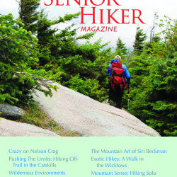 The cover of the first issue of Senior Hiker.