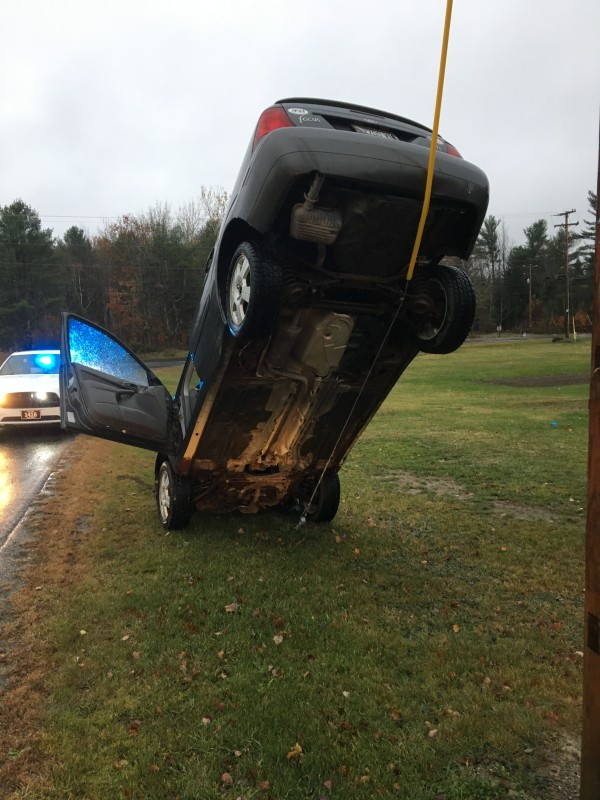 Teen driver backs up onto utility pole guy wire — Midcoast — Bangor ...