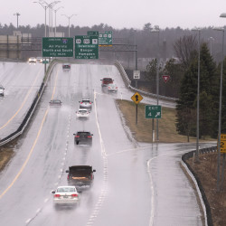 Interstate 395 near Bangor can be seen in this April 2016 file photo.