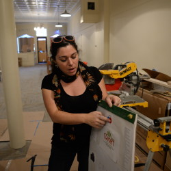 Lisa Liberatore, co-founder of CoVort, a co-working space coming to 49 Main Street in Bangor, talks about all of the amenities that will be in the space recently in Bangor.