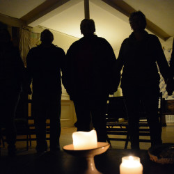 LGBT members of local Unitarian Universalist churches, including these participating in a vigil in Bangor on Wednesday night, fear that a Trump presidency will curtail their legal rights and social acceptance.