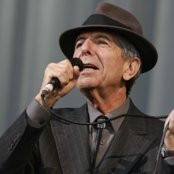 Canadian singer/songwriter Leonard Cohen performs at the Glastonbury Festival 2008 in Somerset, England, June 29, 2008.