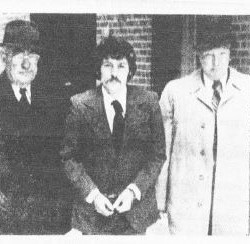 Mars Hill native Bernard Patterson (center) is shown in this BDN file photo from Dec. 6, 1972, being escorted into federal court in Bangor by two U.S. marshals shortly after his capture and return to Maine.