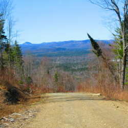 A view of the surrounding hills from a parcel of commercial forestland purchased by Tall Timbers Trust LLC in a package of more than 290,000 acres in the North Maine Woods.