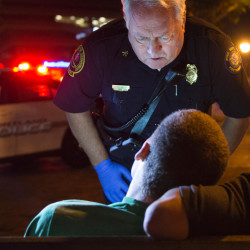 Terry Walsh, fire deputy chief in Portland, Maine, responds to a possible heroin overdose by an 18-year-old man on July 4, 2015.