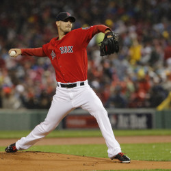 Boston Red Sox starting pitcher Rick Porcello  throws a pitch against the Toronto Blue Jays during a game on Sept. 30 at Fenway Park in Boston. Porcello was named the American League Cy Young winner Wednesday night.