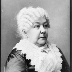 American Women's suffragist Elizabeth Cady Stanton