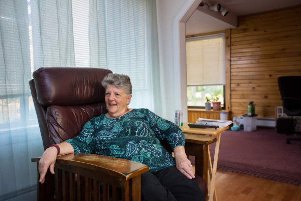Kay Davis, 71, a former Catholic nun and missionary who left her order to marry, raise a family and build a career of her own, talks recently at her Bangor home about how she will be leaving for a two-year commitment with the Peace Corps in Guatemala.