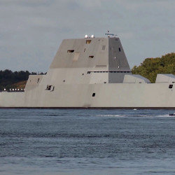 Crewed by 147 sailors, Zumwalt is the lead ship of a class of next-generation multimission destroyers designed to strengthen naval power.