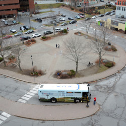 City officials have plans to redesign Pickering Square in 2017 to make its traffic flow better and to better integrate it into downtown.