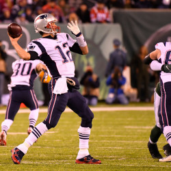 New England Patriots quarterback Tom Brady throws the ball during the second quarter against the New York Jets at MetLife Stadium in East Rutherford, New Jersey, on Sunday.