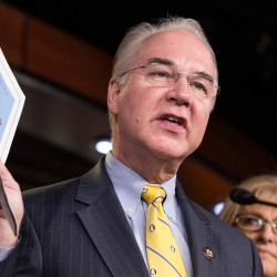 Chairman of the House Budget Committee Tom Price, R-Georgia, announces the House Budget during a press conference on Capitol Hill in Washington on March 17, 2015.