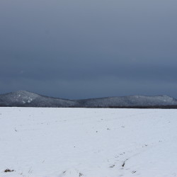 Quoggy Jo Mountain can be seen early Tuesday afternoon at Aroostook State Park in Presque Isle.