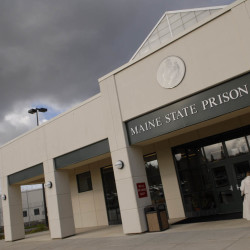 The Maine State Prison's main entrance where visitors and prison staff must pass before going further can be seen in this October 2006 file photo.