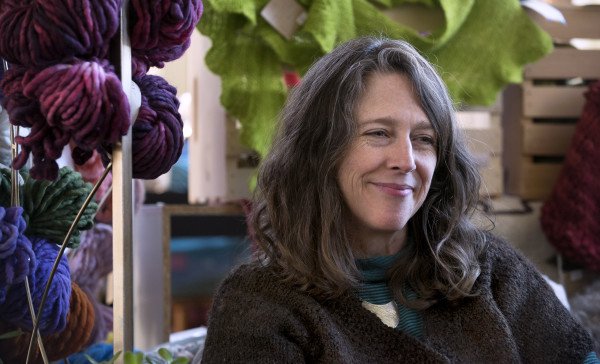 Jodi Clayton, owner of One Lupine Fiber Arts, talks about spinning recently in Bangor.