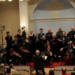 The Blue Hill Bach orchestra, chorus, and soloists in Handel's Messiah.