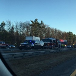 Two people have been killed in a collision involving a car and a tractor-trailer at mile 22 of the northbound lane on the Maine Turnpike, according to Maine State Police.