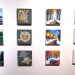Just a few of the 168 works featured in the All Small Art Show at The Sohns Gallery located in The Rock & Art Shop