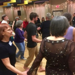 Rockin' the house at Folk Dance Brunswick in Brunswick, ME —Fridays at 6:30.