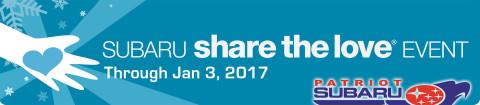 The Subaru Share The Love Event at Patriot Subaru