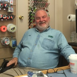 Don Corey at Annika Rod & Fly in Brewer. The fly shop opened on Oct. 8.