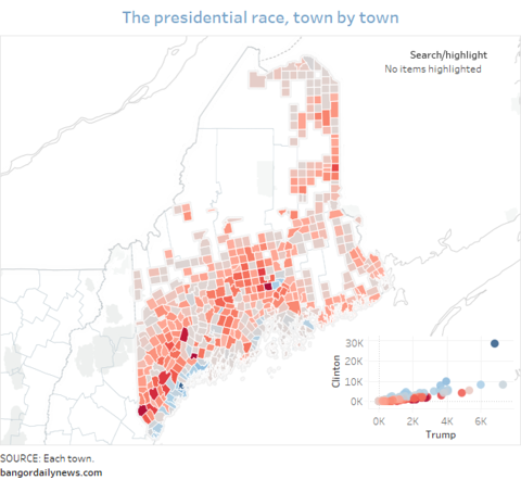 Hermon Maine Map.Maine Lights Up Red For Trump Everywhere But The Coast And Bangor