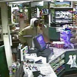 A screenshot from the Friday robbery of Dysart's in Hermon.