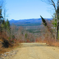 A view of the surrounding hills from a parcel of commercial forestland purchased by Tall Timber Trust in a package of more than 290,000 acres in the North Maine Woods.