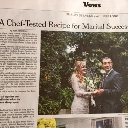 A snapshot of Sunday's New York Times featuring Camden Harbour Inn chefs.