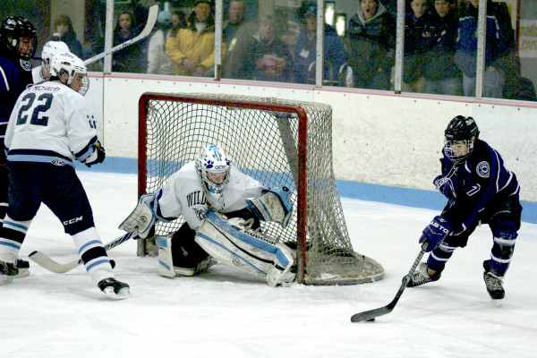 Sukee Arena in Winslow, which hosted the pictured Class B East hockey semifinal between Waterville and Presque Isle in 2014, has closed because of equipment failure. Four central Maine high schools had to scramble to find adequate game and practice time at three other area rinks for the 2016-17 season.