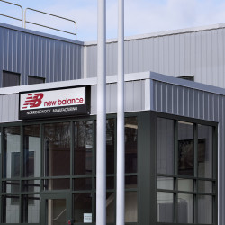 The New Balance manufacturing facility can be seen Nov. 17 in Norridgewock.