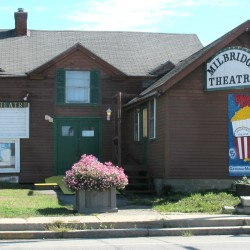 The defunct Milbridge Theatre can be seen recently in Milbridge. An official with a local nonprofit that bought the building earlier this year has indicated that it may demolish the building and show outdoor movies on the site next summer while raising funds for a new building.