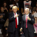 """U.S. President-elect Donald Trump and Vice President-elect Mike Pence hold a rally in Cincinnati, Ohio, December 1, 2016 as part of their """"USA Thank You Tour 2016."""""""
