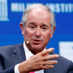 Stephen Schwarzman, chairman, CEO and co-founder of Blackstone, speaks at the Milken Institute Global Conference in Beverly Hills, California, in May.