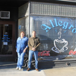 Allison Basye and Greg Doak are planning a trio of businesses in downtown Presque Isle, starting with the Allegro coffee shop opening in December.