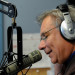 "Veteran broadcaster Dale Duff talks to a caller on his radio show, ""Morning Pitch,"" last Friday."