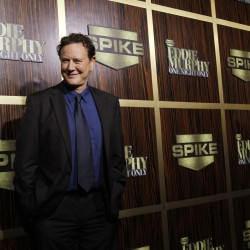 "Actor Judge Reinhold poses as he arrives for the taping of the Spike TV special tribute ""Eddie Murphy: One Night Only"" at the Saban theatre in Beverly Hills, California, Nov. 3, 2012."