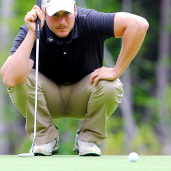 Jesse Speirs lines up a putt in the final round of the Greater Bangor Open at Bangor Municipal Golf Course in Bangor in this July 2015 file photo.