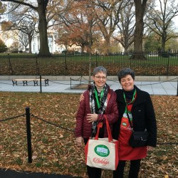 Cecilia Rhoda (left) of Houlton and her sister Claudette Green of Portland were both selected to participate in decorating the White House.