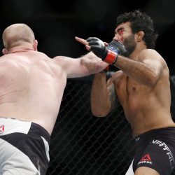 Tim Boetsch (left) fights Rafael Natal during UFC 205 at Madison Square Garden in New York in this November 2016 file photo.