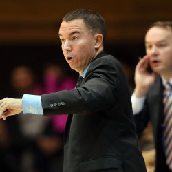 University of Maine men's basketball coach Bob Walsh, pictured during a Dec. 3 game against Duke in Durham, North Carolina, writes a regular blog. Nokomis High School boys basketball coach Ryan Martin used one of those posts to help motivate his team.