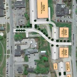 The final designs to redevelop the former Old Town Canoe factory site on Middle Street in downtown Old Town include three retail spaces and three apartment buildings.